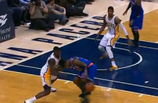 VIDEO: Knicks star Iman Shumpert tries a 'Zebo flick' -- and sets up a 3-pointer
