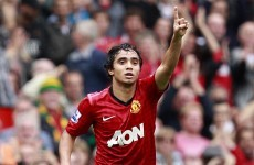 VIDEO: Rafael screamer puts Manchester United ahead