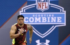 Manti Te'o is not having a good day at the NFL combine