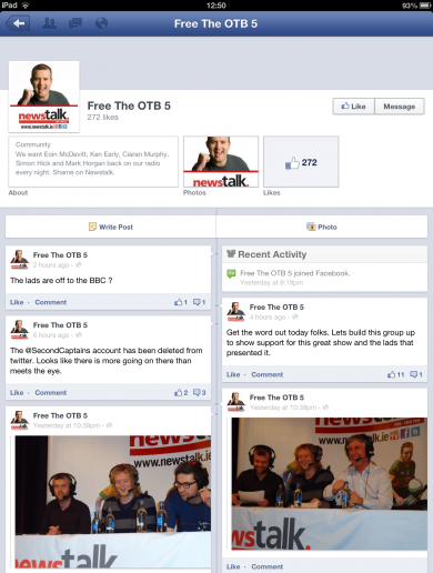 There's even a 'Free The OTB 5' Facebook page now