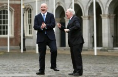 Caption time: What are Keith Wood and Minister Michael Ring saying?