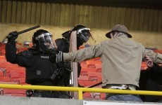Football the loser on a 'sad night' as PSNI clash with Shamrock Rovers fans