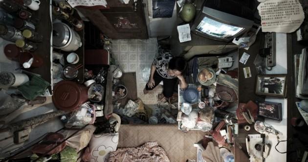 Aerial views of Hong Kong's 'cage' apartments
