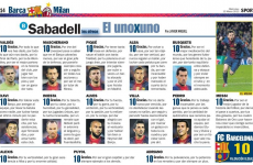 10 out of 10 - Catalan daily Sport gave every Barcelona player a perfect rating today