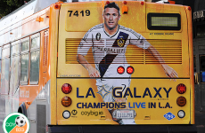 Look who's on the back of buses in Hollywood...