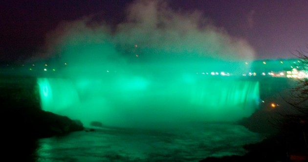 From Niagara Falls to the pyramids, landmarks go green for Patrick's Day