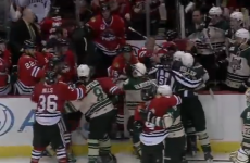 VIDEO: Huge brawl erupts between minor league hockey teams