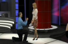 VIDEO: News anchor reads own marriage proposal... on her autocue