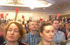 Ruairí Quinn faces red cards and heckles during INTO address