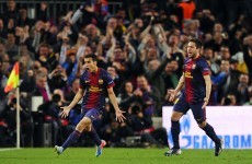 Half-fit Messi comes off the bench to save Barca's Champions League dream