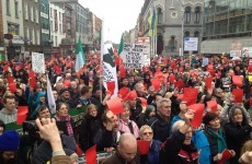 Protest under way in Dublin city centre against Local Property Tax (pics)