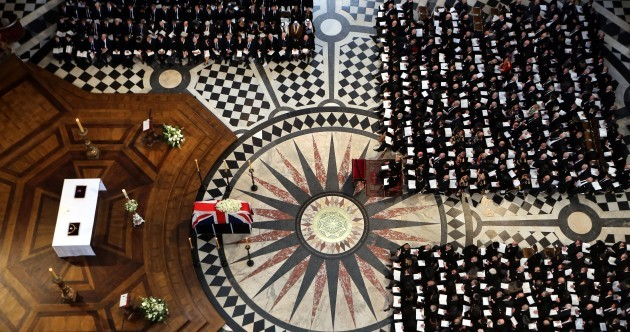Pics: Protesters, supporters and mourners at Margaret Thatcher's funeral