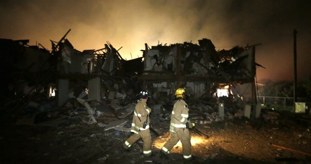 Police say between 5 and 15 killed in Texas fertiliser explosion