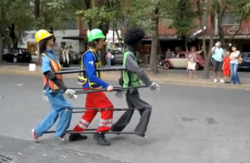 Incredible Michael Jackson dance with life-size puppets