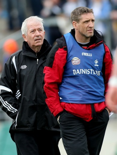 Charlie McCreevy on the sidelines for Kildare U21s