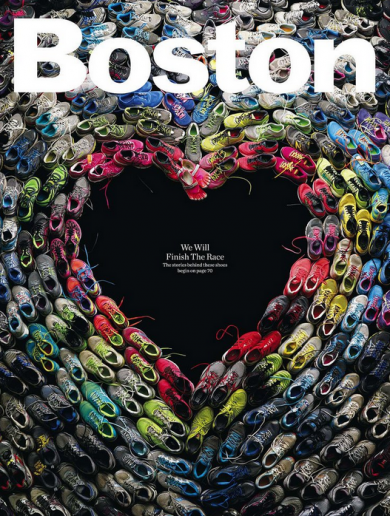 Boston Magazine's stunning marathon cover