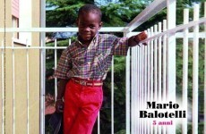 More innocent times: Here's a pic of Mario Balotelli, aged 5
