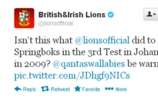 Lions forced to apologise over another inappropriate tweet