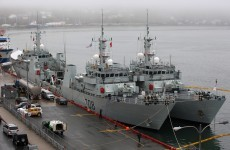 Two Canadian warships intercept Jamaica's former PM... on a fishing trip