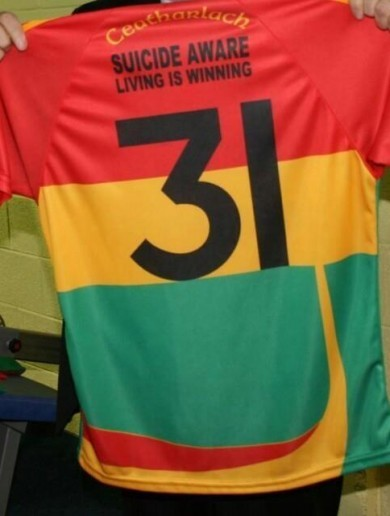The new Carlow jersey supports suicide awareness