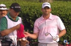 Sergio Garcia has 'Tin Cup' moment, puts 3 balls in the water