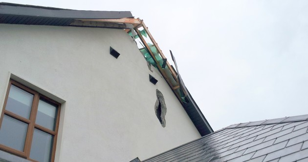 This is what a bolt of lightning did to a house in Tipperary today...