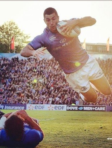 Brilliantly-captured pic of Rob Kearney's try in the Amlin Cup final