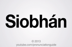 VIDEO: How to pronounce Siobhán