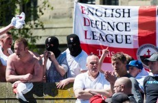 Far-right protesters turn up at mosque, worshippers give them tea
