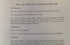 Letter: 'Why I am closing my current account'