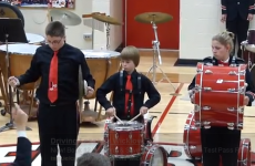 VIDEO: Kid's cymbal breaks mid-performance, hilarity ensues
