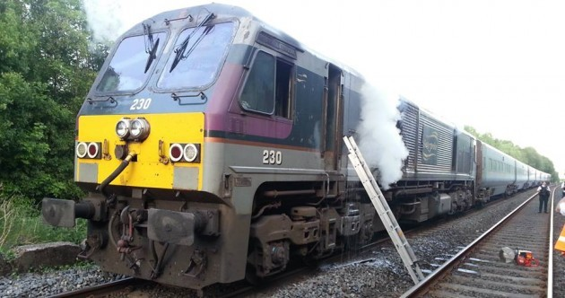 Fire on board Belfast to Dublin train causes huge delays