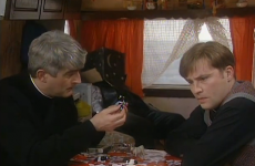 Graham Norton got stuck in the Father Ted caravan