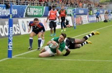 All 6 tries from the Ireland U20s' rout of Fiji