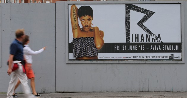 Dublin is now famous worldwide for covering Rihanna's boobs
