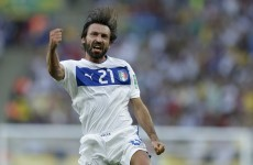 Andrea Pirlo curls in a free kick almost as delicious as his beard