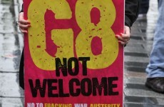 Outer fence line near G8 venue breached following protest