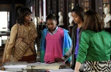 Michelle Obama and daughters will tour Glendalough today