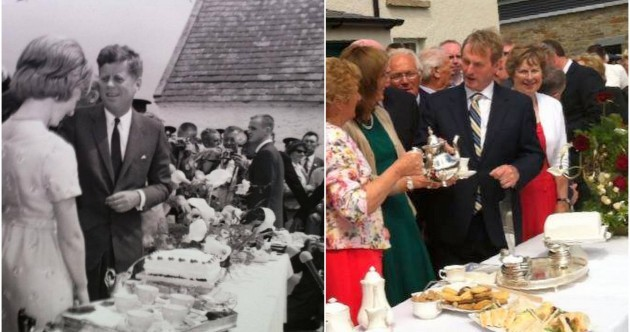 Will you have a cup of tea Taoiseach? Caroline Kennedy reenacts famous tea scene