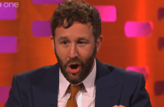Chris O'Dowd swallowing a fly on Graham Norton... in GIFs