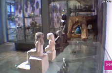 Ancient statue mysteriously starts spinning in museum