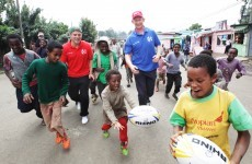Irish rugby stars stunned by tales of 7-year-olds living rough on Ethiopian streets