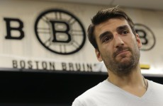 Fractured rib, separated shoulder and collapsed lung, yet this Boston Bruin played on