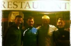 Snapshot: Peter Schmeichel met some of the Cork footballers in Kinsale last night