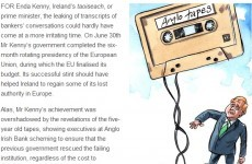 Arrival of Anglo Tapes 'irritating' for Kenny, says The Economist
