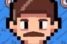 Anchorman retold as an 8-bit arcade game