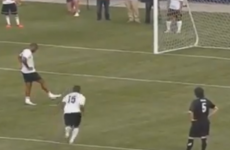 After years* of practice Thierry Henry finally got the tippy-tappy penalty right