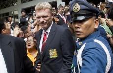 David Moyes gets first taste of the United mayhem as squad mobbed in Bangkok
