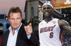 Liam Neeson and LeBron James together at last in mash-up basketball heaven