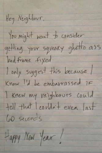 The dos and donts of writing nasty notes to neighbours the daily edge image expocarfo Image collections